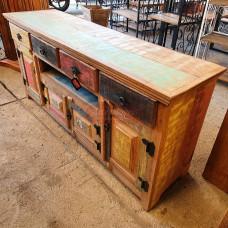 Buffet / Rack Colorido 1,50 com Nicho e 4 Portas em Peroba Rosa - 10092