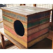 Casinha de Gato ou Cachorro Rústica Colorida - 10023