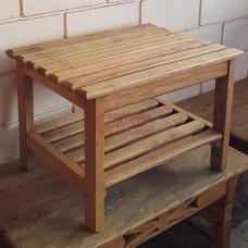Mesa de Centro Rústica em Madeira de Demolição Cerejeira - 10052