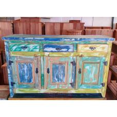 Lindo Buffet 3 Portas Colorido 1,46 x 0,40 em Madeira - 10104