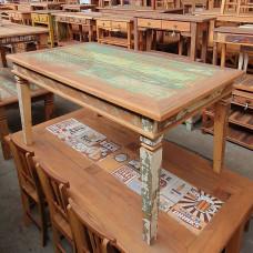 Imperdível Mesa Rústica em Pátina 1,60 x 0,90 em Madeira de Demolição (Peroba Rosa) - 10138