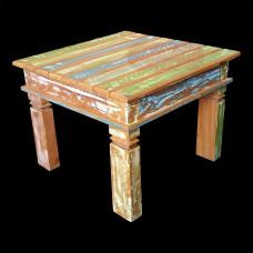 Mesa de Centro Rústica com Tinta  0,60 x 0,45 em Madeira de Demolição - 10121
