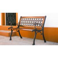 """Banco Namoradeira 2 lugares """"Ouro Preto"""" em Alumínio com Madeira - 84456"""