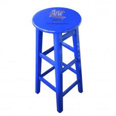 Banqueta Alta 0,29 x 0,74 Azul Laqueada - 5339