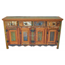 Buffet 1,60 x 0,40 Com Tinta em Peroba - 1585-2
