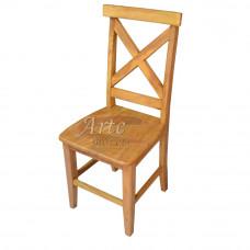 """Cadeira """"X"""" Aplainada em Peroba Rosa"""