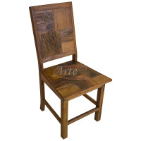 Cadeira Marchetada Rústica em Peroba Rosa