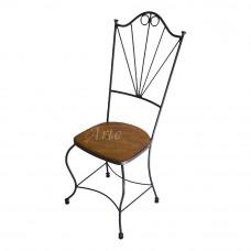 """Cadeira """"Leque"""" em Ferro com Madeira"""