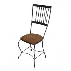 """Cadeira """"Anatômica"""" em Ferro com Madeira"""