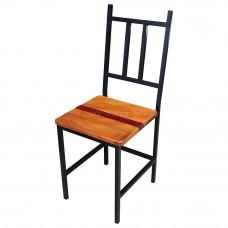 Cadeira de Ferro com Madeira Linha Industrial - 84593
