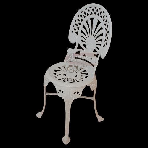 Cadeira Palmeira Branca em Alumínio - 4833