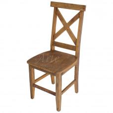 """Cadeira """"X"""" Rústica em Peroba Rosa"""