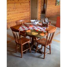 "Conjunto Mesa Rústica 1,00 x 1,00 + 4 Cadeiras ""Country P"" - 4896"