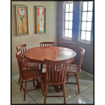 Conjunto Mesa Redonda 1,20 + 6 Cadeiras Country G - 4958-2