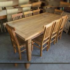 Conjunto Mesa 2,00 x 1,00 + 8 Cadeiras em Peroba Rosa - 5216