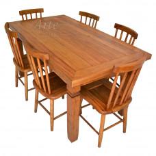 Conjunto Mesa 1,65 + 6 Cadeiras em Cerejeira - 5296
