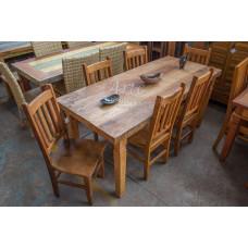 Conjunto Mesa Rústica 1,80 x 0,80 com 6 cadeiras - 4892