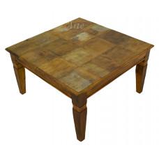 Mesa de Centro 0,80 x 0,80 Rústica em Peroba Rosa - 5163