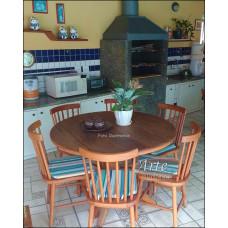 Conjunto Mesa Redonda 1,20 + 6 Cadeiras Country G - 4958