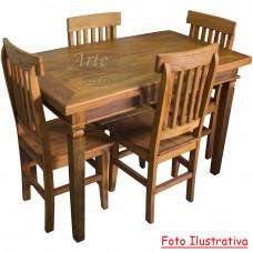 Conjunto Mesa Rústica 1,20 x 0,70 com 4 cadeiras Mineiras - 4685