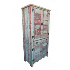 Armário 0,88 x 0,47 Com tinta e 1 Gaveta em Madeira de Demolição - 5065