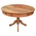 Conjunto Rústico Mesa 1,20 Ø com gavetas + 4 cadeiras Marchetadas - 44998