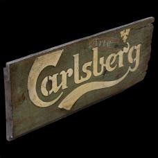 """Placa """"Carlsberg"""" Verde em Madeira - 5229"""
