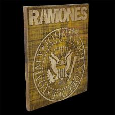"""Placa """"Ramones"""" Amarela em Madeira - 5237"""