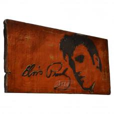 """Placa """"Elvis Presley"""" Vermelha em Madeira - 5240"""