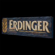 """Placa """"Erdinger"""" Azul em Madeira - 5241"""