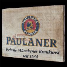 """Placa """"Paulander"""" Branca em Madeira - 5243"""