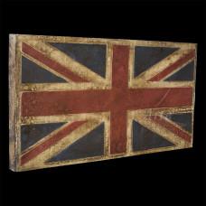 """Placa """"Reino Unido"""" Colorida em Madeira - 5253"""