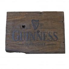 """Placa """"Guinness"""" Sem Tinta em Madeira - 5254"""