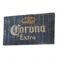 """Placa """"Corona Extra"""" Azul em Madeira"""