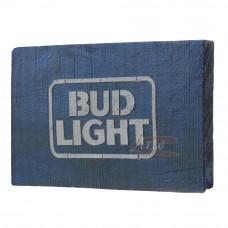 """Placa """"Bud Light"""" Azul em Madeira - 5257"""
