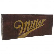 """Placa """"Miller"""" Vermelha em Madeira - 5260"""