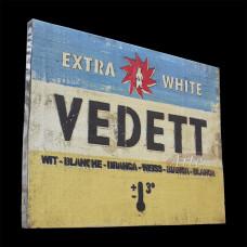 """Placa """"Vedett"""" Colorida em Madeira - 5261"""