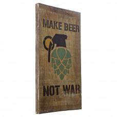 """Placa """"Make Beer"""" em Madeira - 5262"""