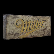 """Placa """"Miller"""" Branca em Madeira - 5263"""
