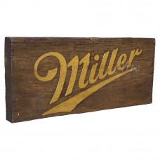 """Placa """"Miller"""" Sem Tinta em Madeira - 5268"""