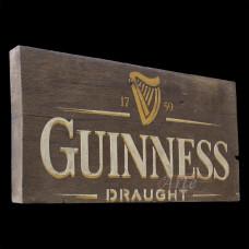 """Placa """"Guinness"""" Sem Tinta em Madeira - 5269"""