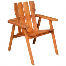 Cadeira com braço Pavão (Adirondack) em Madeira de Demolição (Peroba Rosa) - 84492