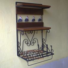 Porta Prato / Paneleiro 0,50 x 0,85 Madeira e ferro com Galinhas - 5002