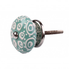 Puxador Azul com Relevo em Cerâmica - 3078V