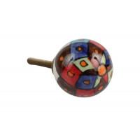 Puxador Redondo Colorido em Cerâmica - 3161V