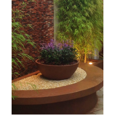 "Vaso modelo ""Bacia Oval"" nº 6 com pintura texturizada - 49719"