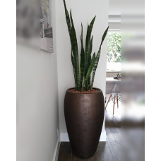 "Vaso nº 3 estilo ""Índia"" com pintura texturizada tipo ""Bronze"" - 49672"