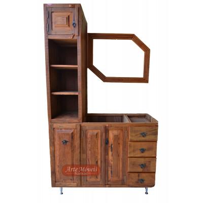 Conjunto Completo de Banheiro, Armario, Arcaz e moldura - 45230