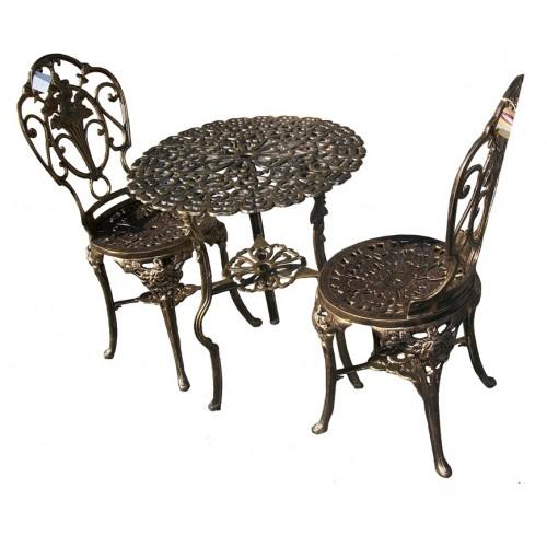 Conjunto de Mesa com 2 Cadeiras - Ouro Velho - 2492