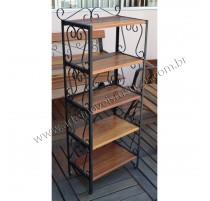 Estante / Prateleira- 0,52 x 150- madeira e ferro - 3015